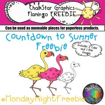 Flamingo Freebie- Chalkstar Graphics