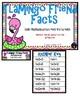 Flamingo Friends Multiplication 4 Facts Third Grade Math File Folder Game