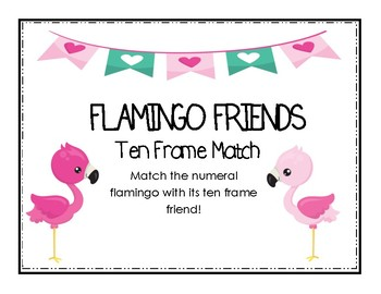 Flamingo Friends Ten Frame Match