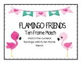 Flamingo Friends Ten Frame Match