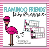 Flamingo Friends Tens Frames for Counting Days in School