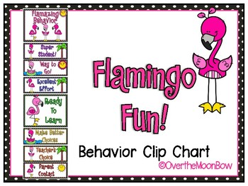 Flamingo Fun Behavior Clip Chart