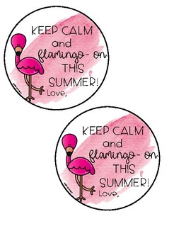 Flamingo Gift Tag Freebie