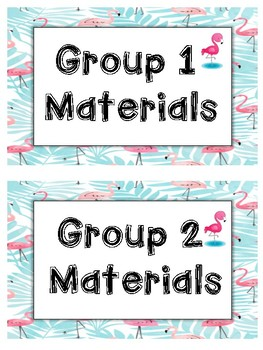 Flamingo Group Materials Printable Beginning of the Year