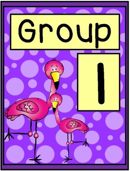 Flamingo Group Signs - Table Group Signs