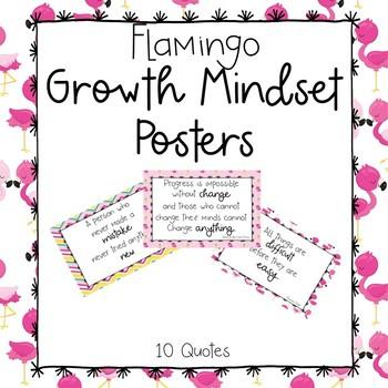 Flamingo Growth Mindset Posters
