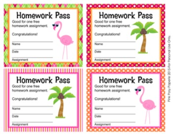 Flamingo Homework Passes