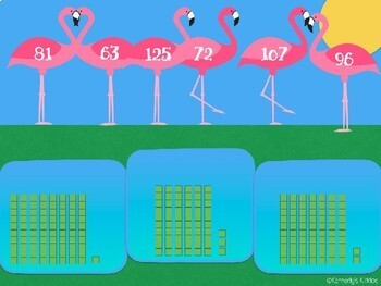 Flamingo Hundreds, Tens and Ones (Great for Google Classroom!)