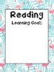 Flamingo Learning Goals Printable Beginning of the Year