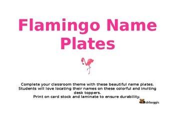 Flamingo Name Plates