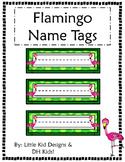 Flamingo Name Tags - Printable Name Tags
