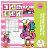 Flamingo Number Cards and More