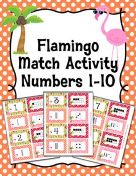 Flamingo Number Match Activity