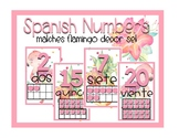 Flamingo Number Posters-Spanish