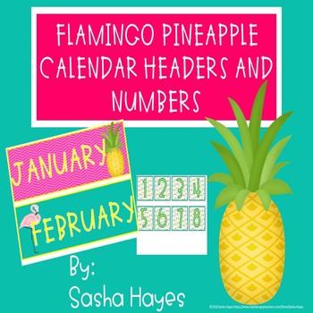 Flamingo Pineapple Calendar