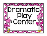 Flamingo, Pineapple, and Cactus Center Labels