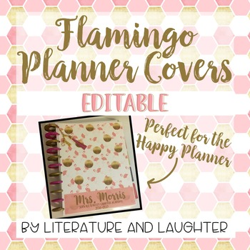 Flamingo Planner Cover