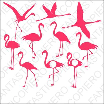 Flamingo SVG files for Silhouette Cameo and Cricut