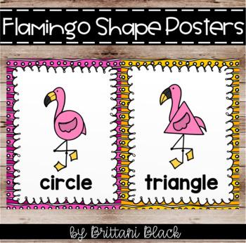 Flamingo Shape Posters