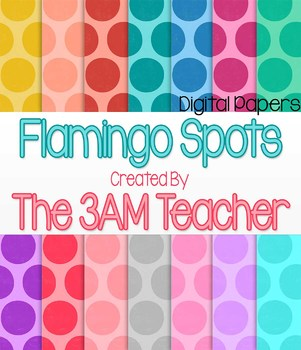 Flamingo Spots Digital Backgrounds / Papers / Patterns