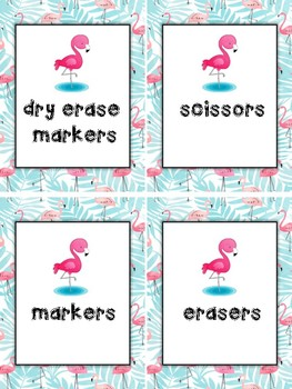 Flamingo Supplies Signs Printable Beginning of the Year