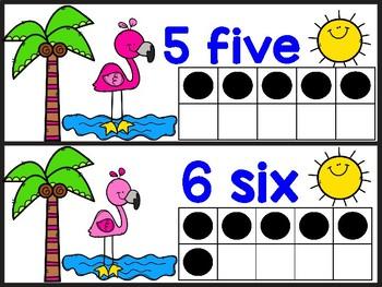 Flamingo Ten Frame Cards