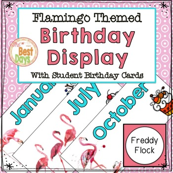 Flamingo Theme Classroom Decor Birthday Display