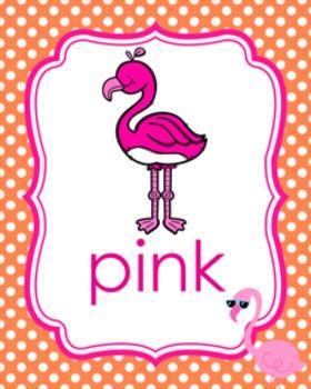 Flamingo Theme Color Posters