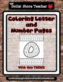 Flamingo - Theme Coloring Letter and Number 0 - 10 (37 Pages) *s