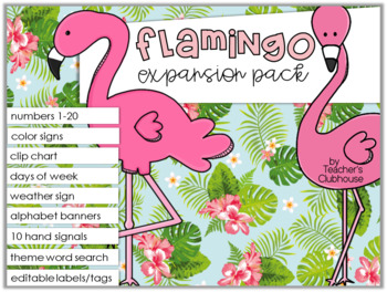 Flamingo Theme Decor {Expansion Pack}