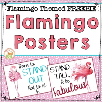 Flamingo Theme Poster Freebie for Your Classroom