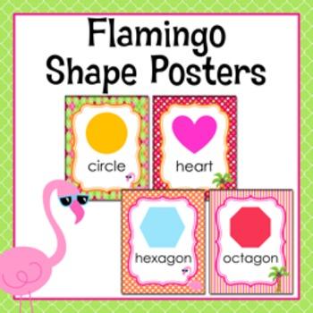 Flamingo Theme Shape Posters