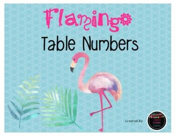 Flamingo Theme Table Numbers/Classroom Decor