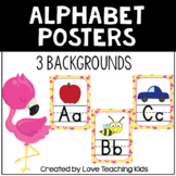 Flamingo Themed Alphabet Posters