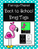 Flamingo-Themed Back to School Brag Tag