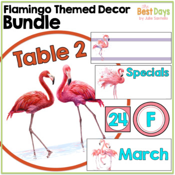 Flamingo Themed Classroom Decor Bundle