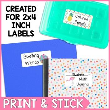 Flamingo Themed Classroom Labels
