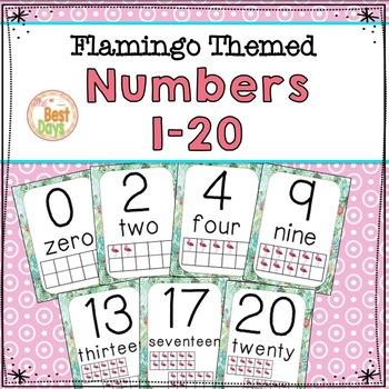 Flamingo Themed Decor :  Numbers 0-20