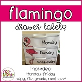 Flamingo Themed Drawer Labels (EDITABLE)