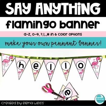 Flamingo Classroom Banner