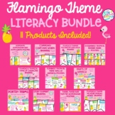 Flamingo Tropical Themed Literacy Bundle **11 Products Included**