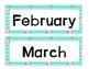 Flamingo Turquoise Calendar Set