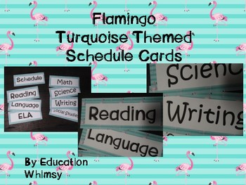 Flamingo Turquoise Schedule Set
