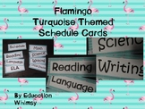 Flamingo Turquoise Schedule Set