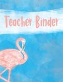 Flamingo Watercolor Binder Covers