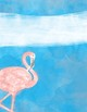 Flamingo Watercolor Binder Covers