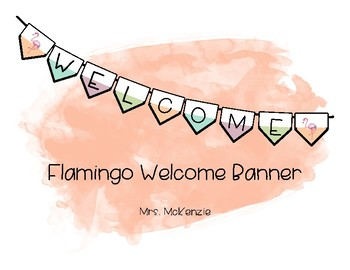 Flamingo Welcome Banner