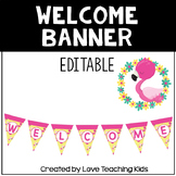 Flamingo Classroom Theme- Welcome Banner