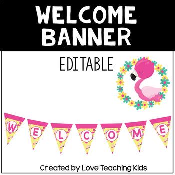 Flamingo Classroom Theme- Welcome Banner