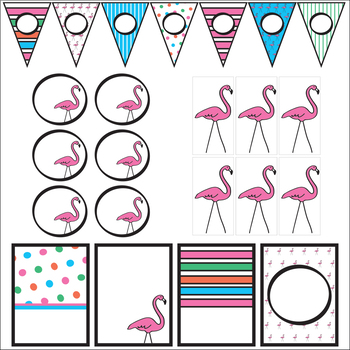 Flamingo Welcome Banner and Classroom Decor